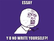 essay why u no write yrself