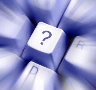 question mark on keyboard